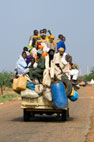 Overloaded truck travelling from Niamey to Abalak, Niger