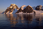 Antarctic scene at dusk, near Peterman Island, Antarctica