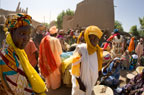 Women trading at the Monday Market outside the Great Mosque in Djenne, Mali