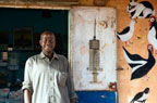 Local vet outside his surgery in the city of Bandiagara, Mali