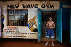 Vincent Joel outside the New Wave Gym, Nairobi, Kenya.