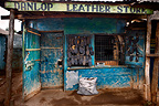Danlop leather Store, selling shoes, Nairobi, Kenya.
