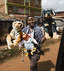 Toy seller, Nairobi, Kenya.