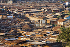 View from above of Kabira district, Nairobi, Kenya.
