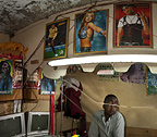 Interior of Barber shop, Nairobi, Kenya