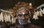 Elder of the Asmat Tribe, Agats village, New Guinea, Indonesia.