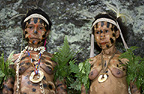 Women of the Yafi tribe, New Guinea Island, Indonesia