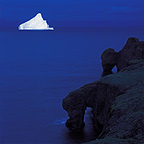 Iceberg at night August, Disko Bay, Western Greenland