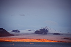 Polar landscape in low light in September, Kongsfjorden, Svalbard, Norway