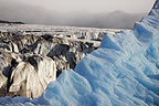 Glacial landscape with blue ice, Monaco glacier, N-W Svalbard, Norway