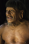 Huaorani man, Ahua Baiwa. Bameno Community, Yasuni National Park, Amazon rainforest, Ecuador, South America.