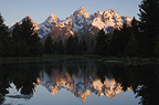 Teton range, Grand Teton National Park, Rocky Mountains, Wyoming,  USA.