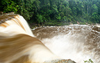 Maliau Falls (6th of 7 tiers) on the Maliau River. Centre of Maliau Basin - Sabah's 'Lost World' - Borneo.