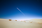 Jupiter and Venus blur together during a 45 minute-long exposure, White Sands National Park, USA
