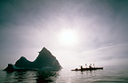 Kayaking in the mist, Greenland