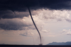 Strong double waterspout Adriatic Sea Croatia