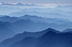 View of the Northern Alps from the peak of Monte Rosa