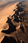 Aerial view of the Namib Desert dunes Namibia