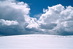 Stormy sky on a snowfield Auvergne France