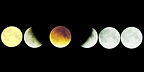 Progression of the Moon's umbra during an eclipse