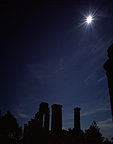 A few seconds before total eclipse ancient City Turkey