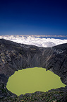 Crater lake in the volcano Irazu Costa Rica