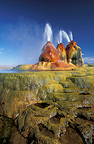 Water geysers in the desert of the black Rock Nevada the USA