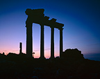 Rising of Moon and Venus on Apollo temple Turkey