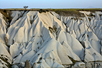 Eroded rocky formations in Cappadocia Turkey