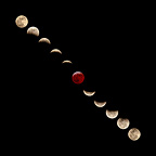 Phases of Moon total eclipse France