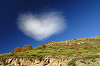 Cloud in heart shape in Cévennes France