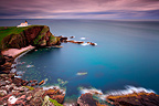 Stoer peninsula lighthouse at dusk Scotland