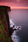 Kilt Rock waterfall at dusk Isle of Skye Scotland