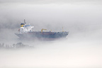 Oil tanker in the mist, Loops Parc, France
