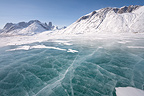 Asgard mountain and ice in Auyuittuq NP Baffin Canada