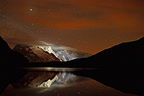 Gol�on Lake and Massif de la Meige at night Ecrins France