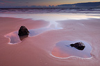 Sand beach Lostmarc'h at dusk Finist�re France