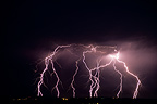 Multiple lightning strikes on the Val d'Allier France