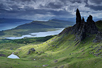 Rock formation of Old Man of Storr Isle of Skye Scotland�