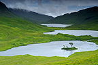 Lochs at the foot of Ben Buie Isle of Mull Scotland