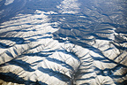 Snowy mountains in Siberia Russia
