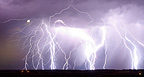Very electrical storm in the night in the summer Gers