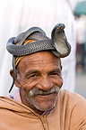 Snake charmer with a Cobra on the head Marrakech