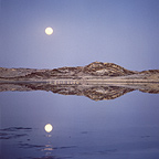 Full moon over the south Namib desert coast Namibia