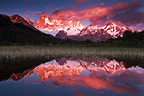 Sunrise over Fitzroy mountain, Patagonia, Argentina