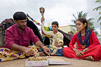 Education for young snake charmers in India