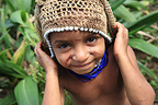 Boy wearing wedding attire, Papua New- Guinea