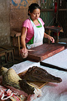 Caiman being sold for meat in Belen Market  Iquitos Peru (Caiman)