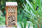 Insect hotel in a garden