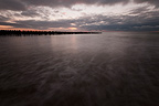 Dusk on the mussel-Quend Beach in the Somme�